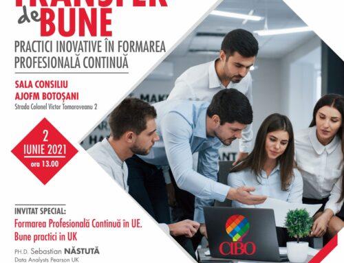 CIBO 2 iunie 2021: Transfer de bune practici inovative în Formarea Profesională Continuă