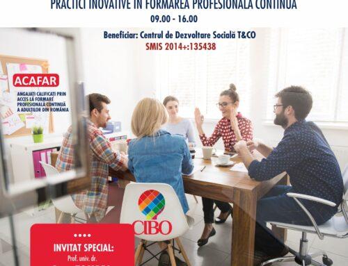 CIBO 27 iulie 2021: Transfer de bune practici inovative în Formarea Profesională Continuă