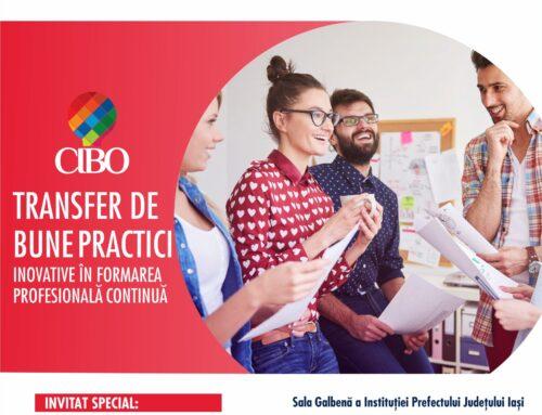 CIBO 23 septembrie 2021: Transfer de bune practici inovative în Formarea Profesională Continuă
